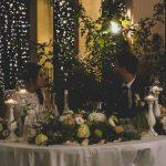 Gli sposi a tavola